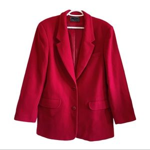 Daniel hechter wool and cashmere red blazer